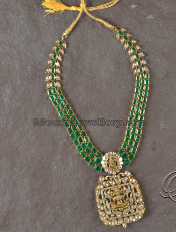 Emerald Polki Set from Tibarumal Jewels