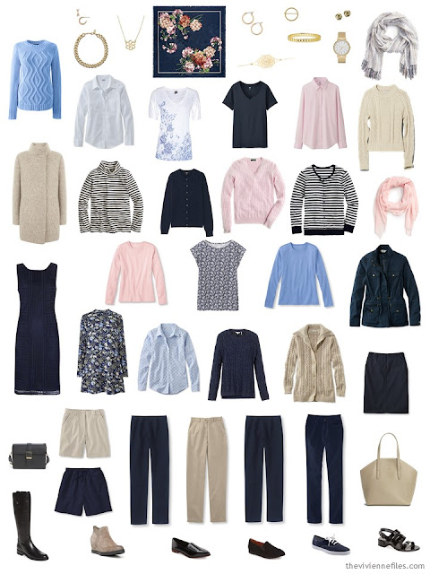 A finished Starting From Scratch capsule wardrobe