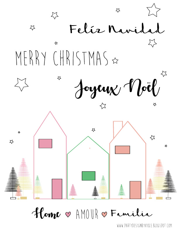 Joyeux Noel Violetta.Free Christmas Labels Placemat And Printable Pink Green