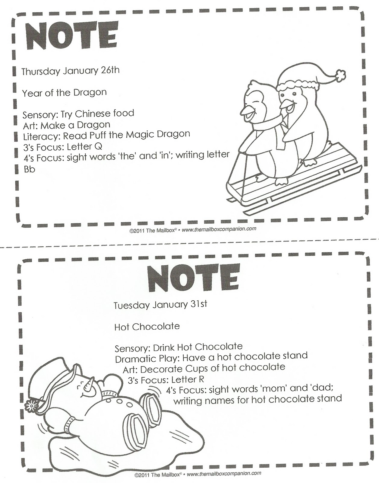 Discovery Days Preschool January Calendar And Lesson Plans