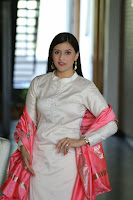 Mannara Chopra in Silky White Salwar Suit with Pink Chunni Latest Exclusive Pics March 2017 ~  059.JPG