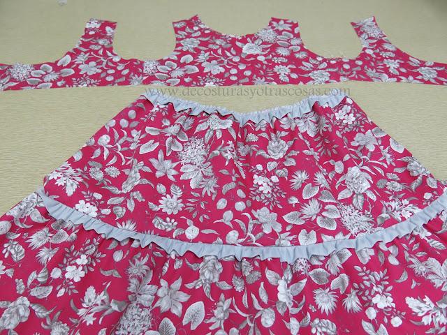vestido con canesú y falda