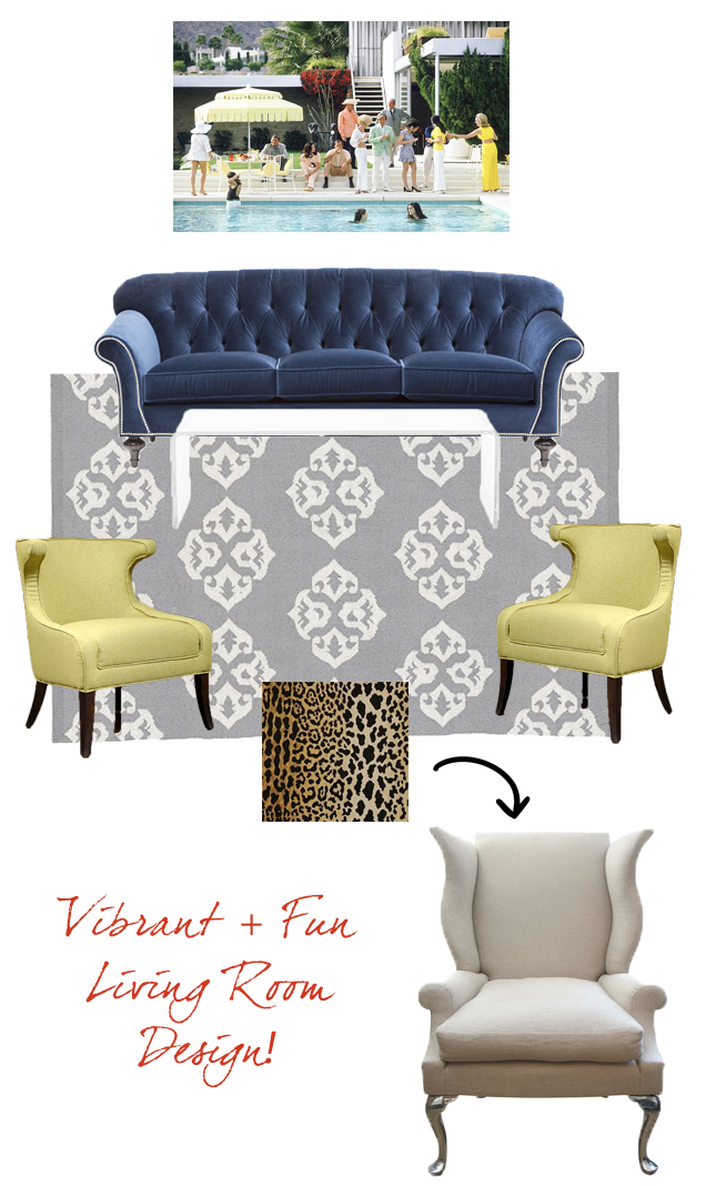the peak of tr s chic vibrant fun living room design. Black Bedroom Furniture Sets. Home Design Ideas