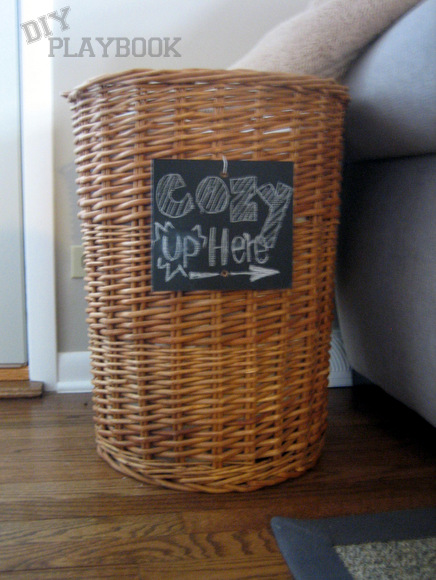 Cheap Chalkboard Basket