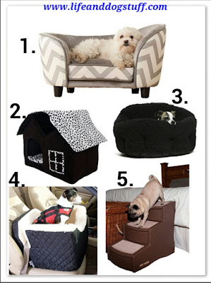 Dog beds, dog car seats, pet sofa, pet house, pet stairs.