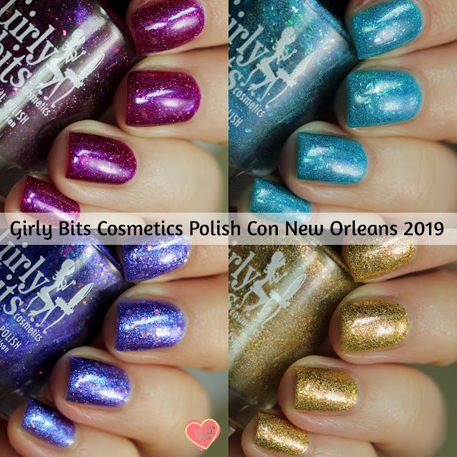 Girly Bits Polish Con New Orleans 2019 swatches by Streets Ahead Style
