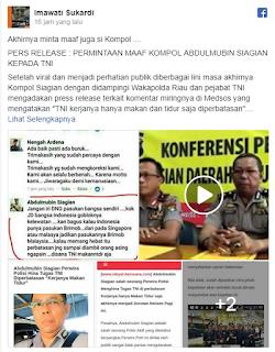 Hina TNI yang Bertugas di Perbatasan, Kompol Abdul Mubin Akhirnya Minta Maaf