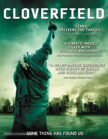 Poster Of Cloverfield 2008 Dual Audio 720p BRRip [Hindi - English] ESubs Free Download Watch Online downloadhub.net