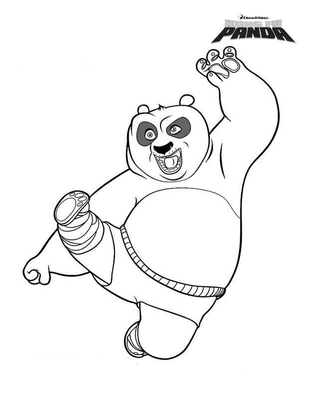 Contemporáneo Panda Bear Para Colorear Imprimible Molde - Dibujos de ...