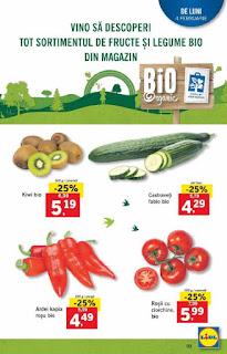 CATALOG LIDL 4 - 10 februarie 2019 promotii legume si fructe bio