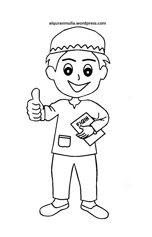 Gambar Kartun Anak Menghormati Orang Tua | Top Gambar