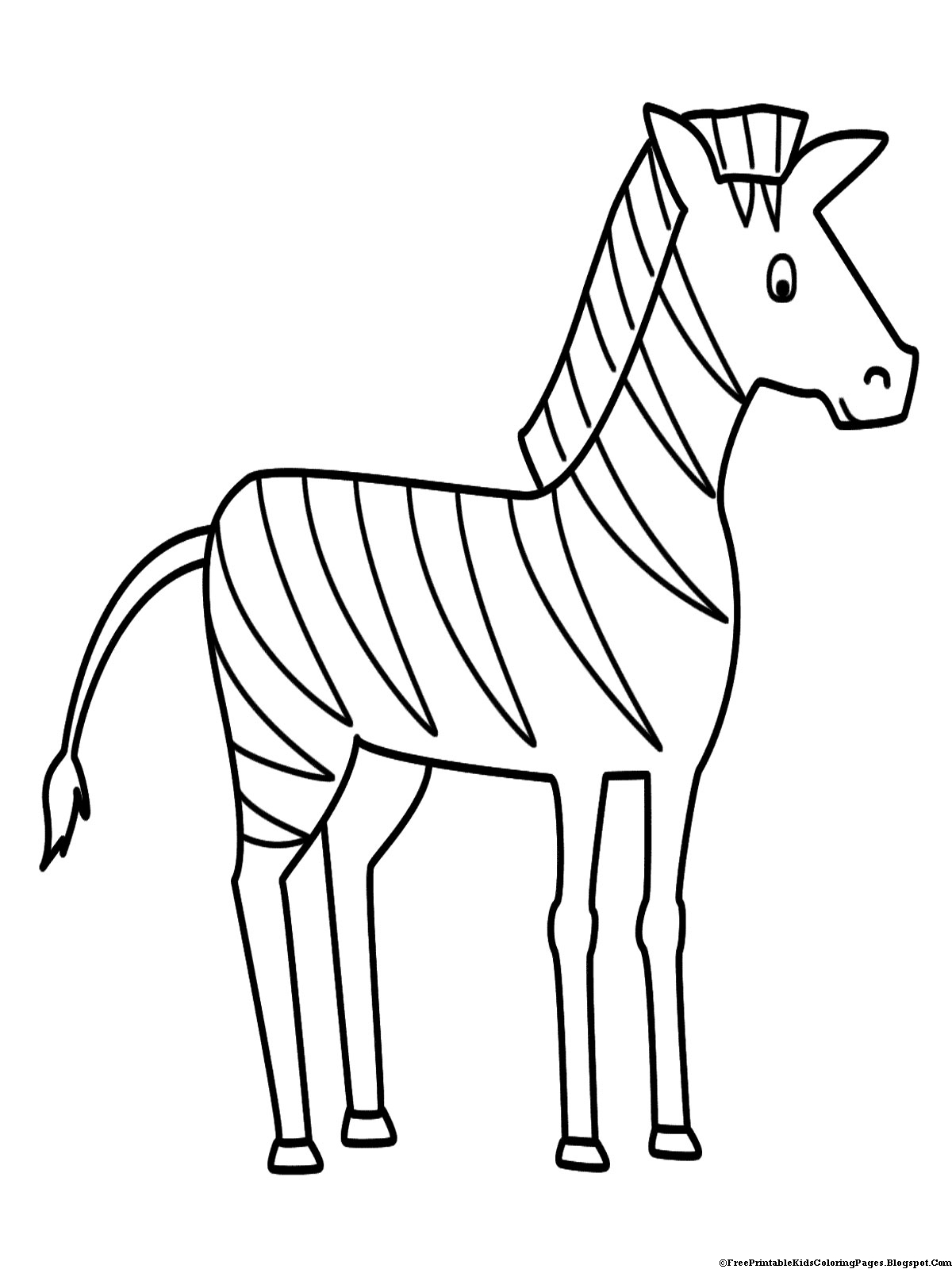 Line Drawing Zebra : Zebra coloring pages free printable kids
