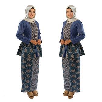 Baju Batik Seragam Guru Untuk Wanita Berjilbab