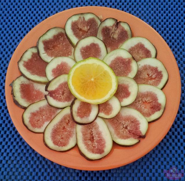 Carpaccio de Figo com calda de laranja