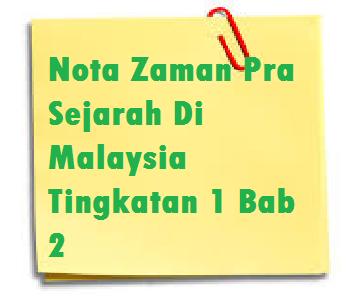 Zaman Pra Sejarah Di Malaysia Tingkatan 1 Bab 2