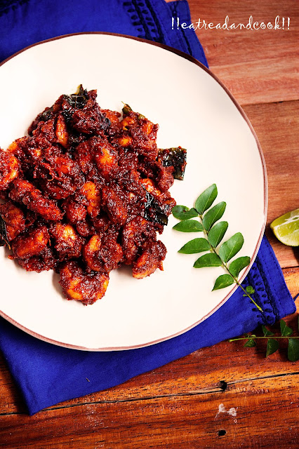 how to make Prawn Ghee Roast recipe and preparation with step by step process