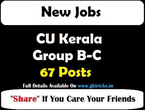 CU Kerala Group B-C Jobs