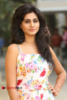 Actress Shamili Stills in Floral Short Dress at Sree Ramaraksha Song Launch 0068