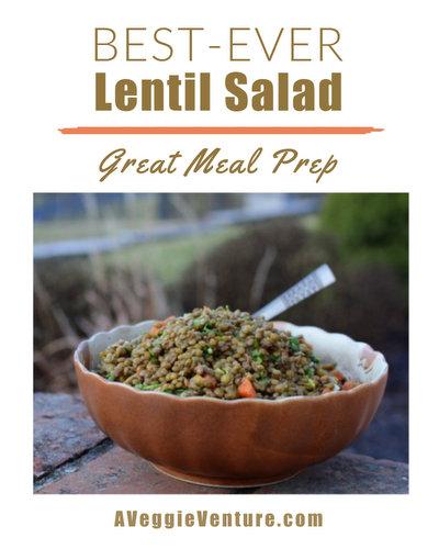 Best-Ever Lentil Salad with an unusual cooking technique ♥ A Veggie Venture