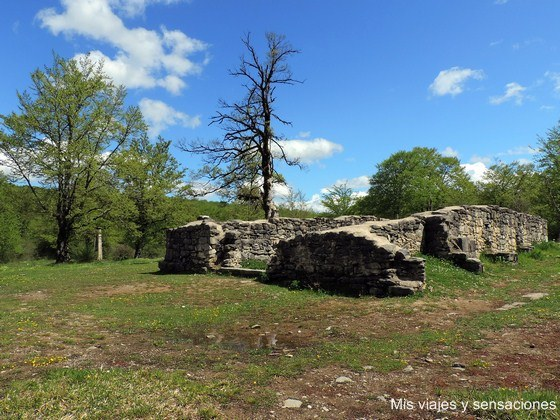 Ruinas del Monasterio de Santiago de Langreniz, Salto del Nervión