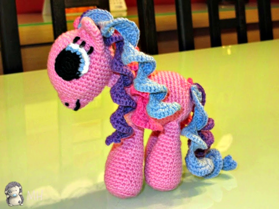 my little pony amigurumi rosa