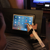 Paul using the limitless stylus with his ipad
