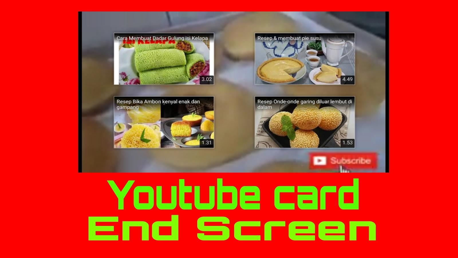 Cara Aktifkan Kartu Layar Akhir Atau End Screen Pada Video Youtube