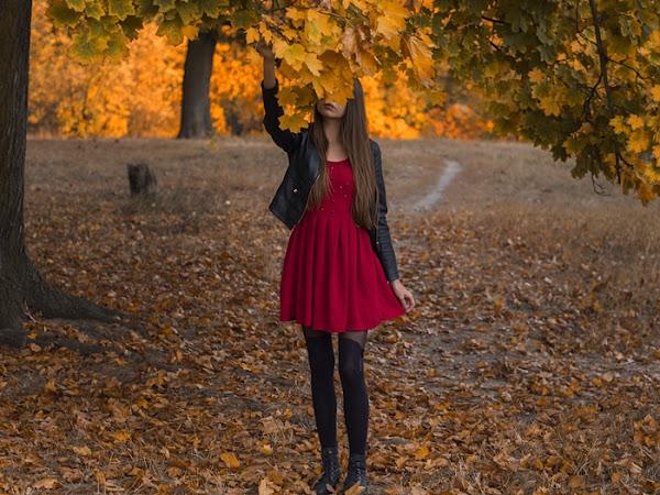 267. STYLIZACJA: Sukienka z ćwiekami i ramoneska + dlaczego nie pokazuję twarzy