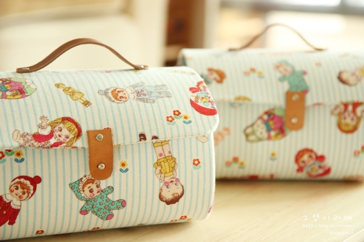 Storage box bag with cover. Pattern & PhotoTutorial