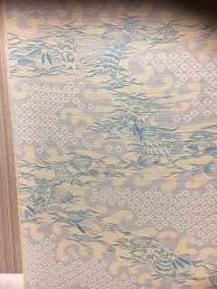 伊勢型紙を使って染めた布