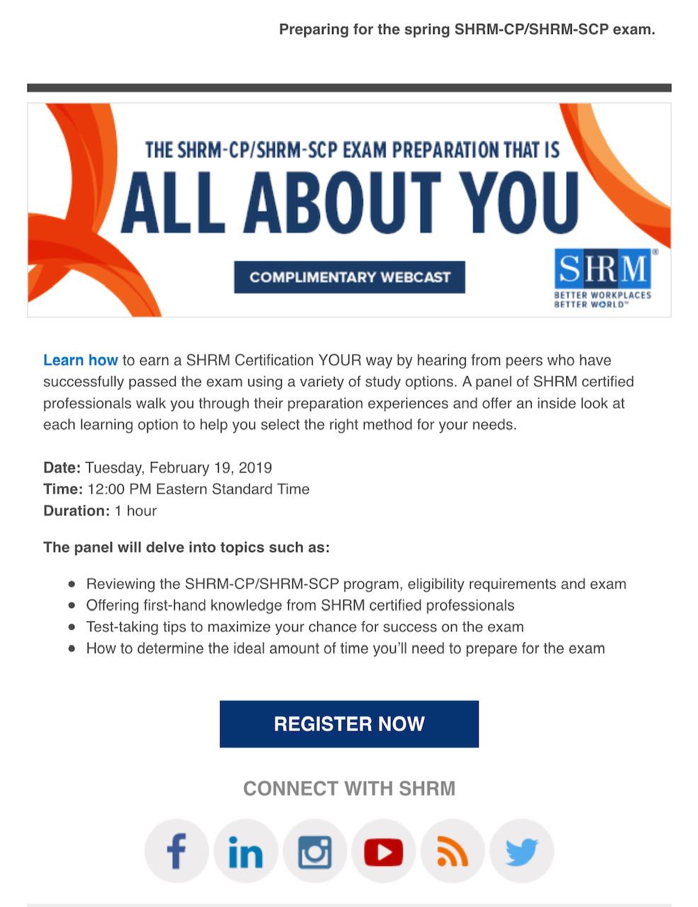 Lehman Chapter Shrm Spring 2019 Shrm Cpshrm Scp Exam Info Session