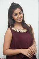 Nikki Galrani in a Brown Shining Sleeveless Gown at Nakshatram music launch ~  Exclusive 090.JPG