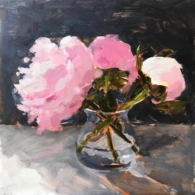 #338 'Peonies' 12×12″ & Open Studio Video