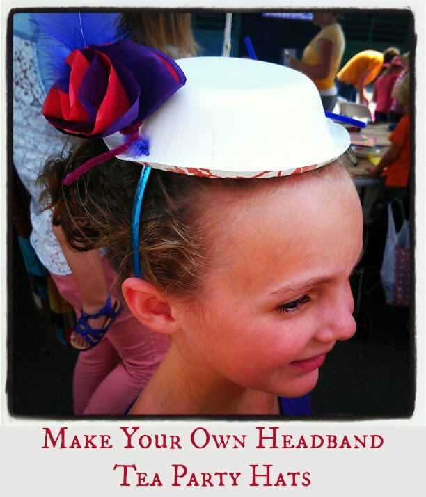 3a238857e0754 Something that isn't hard to make but that they would love? Check out this  adorable headband hat! I think this would be such a fun craft to do at a tea  ...