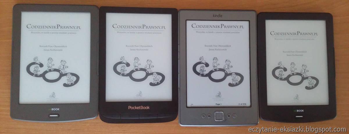InkBOOK Classic 2, PocketBook Touch Lux 4, Kindle 4, InkBOOK LUMOS – porównanie ekranów