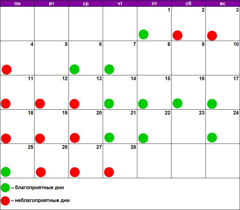 Лунный календарь для пилинга февраль 2019