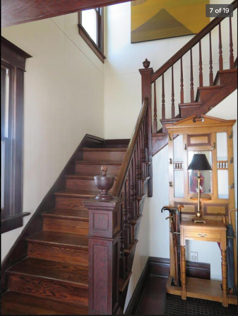 Sears staircase and newel 1910 Sears No 118 in Mexico, MO