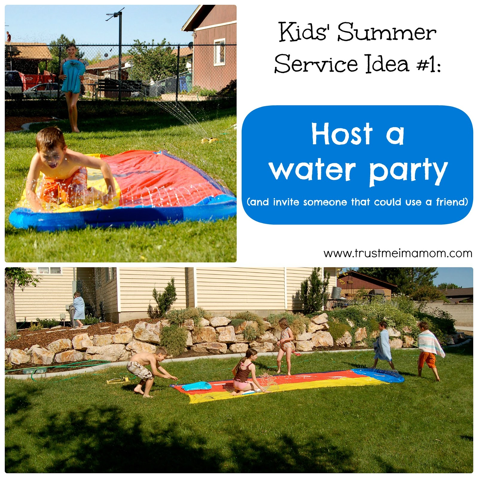 Fun Ways to Serve with Kids This Summer... Idea #1 - Host a water party & invite someone who could use a friend!