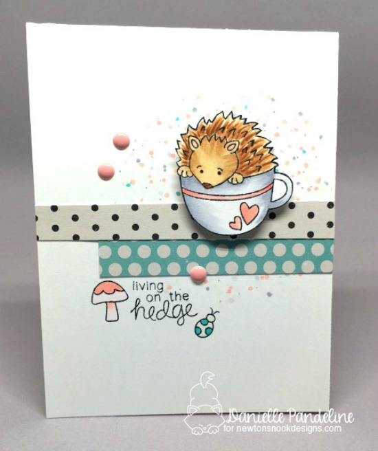 Hedgehog card by Danielle Pandeline  | Hedgehog Hollow Stamp set by Newton's Nook Designs #newtonsnook #hedgehog