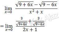 Penyelesaian limit dengan dalil L'Hopital