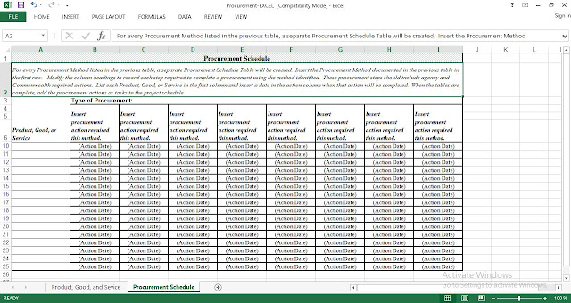 procurement plan and schedule template. Black Bedroom Furniture Sets. Home Design Ideas