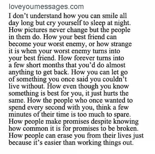 sad paragraphs about love