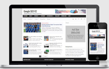 Google SEO V2 - Template Blog SEO Friendly Responsive Terbaru
