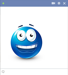 Wide-Eyed Smiley Chat Sticker