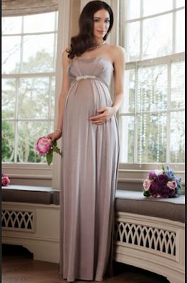 Long dress untuk wanita hamil