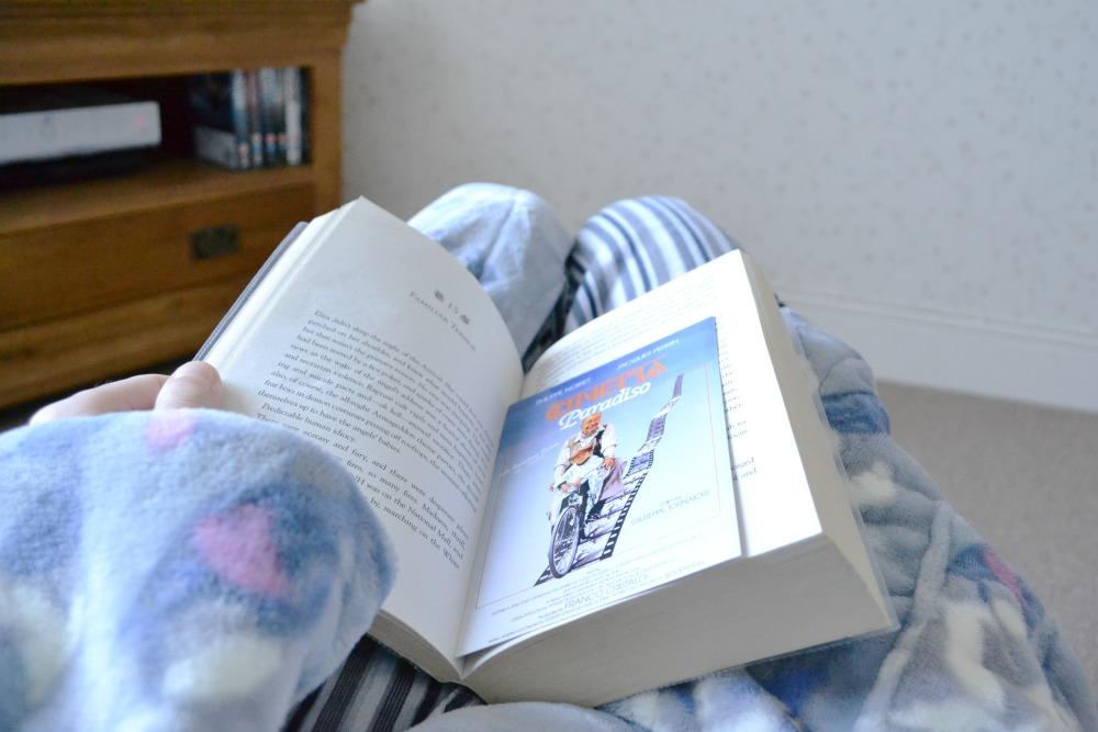 reading library book cinema paradiso bookmark postcard