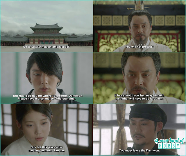 king order 4th prince to leave for jin and after that order ji monk to kick out hae soo from the palace  - Moon Lover Scarlet Heart Ryeo - Episode 12 - Review