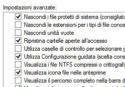 riaprire le cartelle all'avvio di Windows