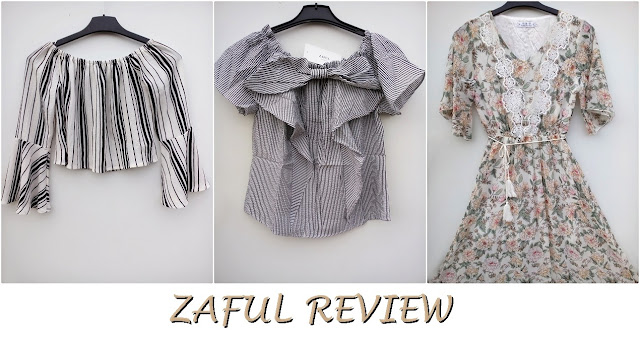 zaful, online shop, onlajn sajt, review, recenzija, stripes, pruge, cropped shirt, flared sleeves, off the shoulder, na jedno rame, ljeto, summer, proljeće, spring, fashion, moda