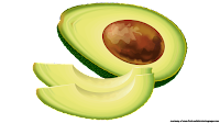 avocado slices clip art free
